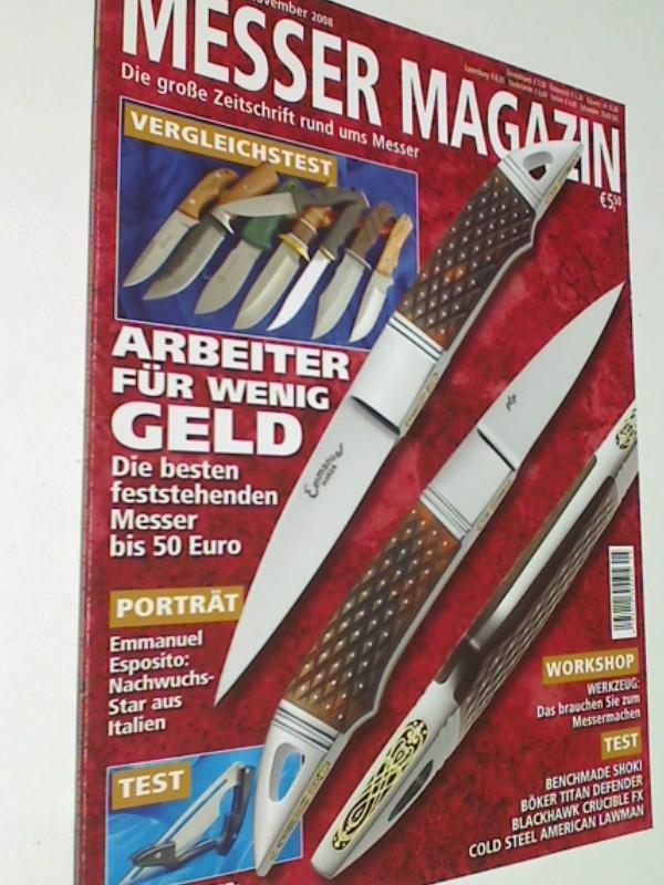 Messer Magazin Nr. 5 / 2008 Test: Benchmade Shoki, Böker Titan Defender,  Blackhawk Crucible FX, Cold Steel American Lawman. Die große Zeitschrift rund ums Messer. 4195012305000