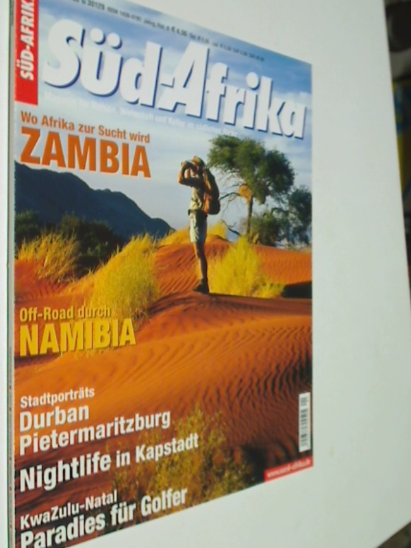 Süd-Afrika Heft 1 / 2003 Special: Zambia, Off-Road durch Namibia, Nightlife in Kapstadt, Magazin für Reisen, Wirtschaft und Kultur im südlichen Afrika. Zeitschrift 4390377708002