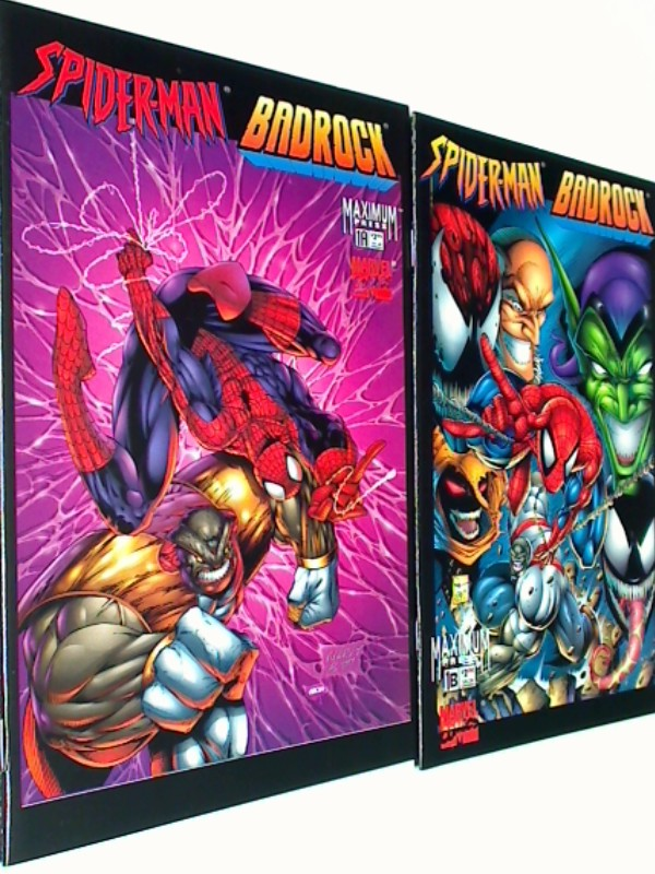 Spider-Man Badrock Crossing Over # 1 A & 1 B, US Marvel Maximum Press Comic-Heft, ERSTAUSGABE 1997, Crossover