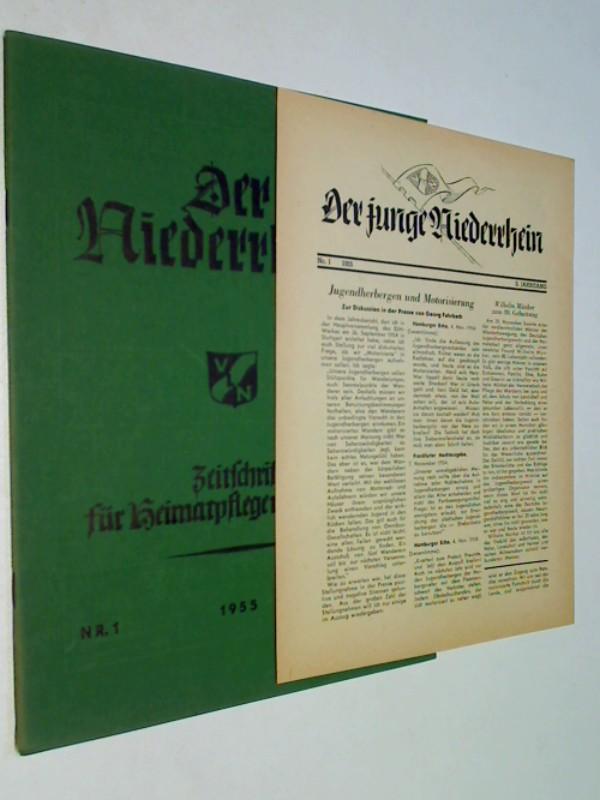 Der Niederrhein. 1955 Heft 1,  + Der junge Niederrhein 1, Zeitschrift für Heimatpflege und Wandern.