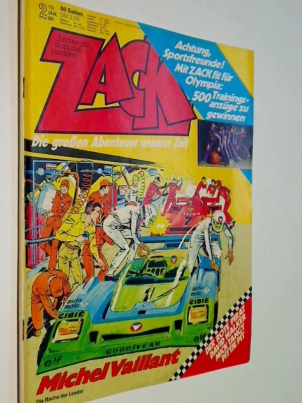 Zack 1980 Heft 2, mit Michel Vaillant, , Mick tanguy, Der Rote Pirat. Pittje Pit, David walker, Koralle Comic-Magazin, ERSTAUSGABE 10.1.1980