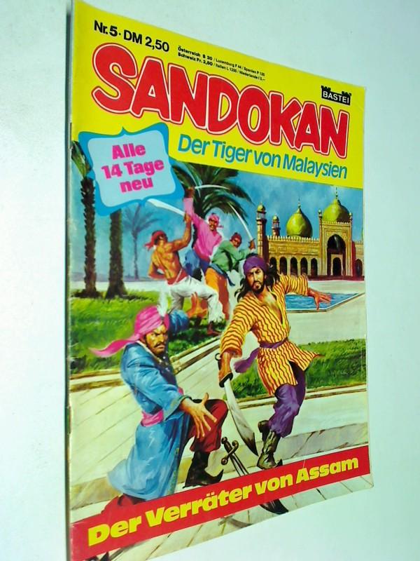 Sandokan Nr. 5 Der Verräter von Assam,  Der Tiger von Malaysien , ERSTAUSGABE 1979, Bastei Comic Magazin