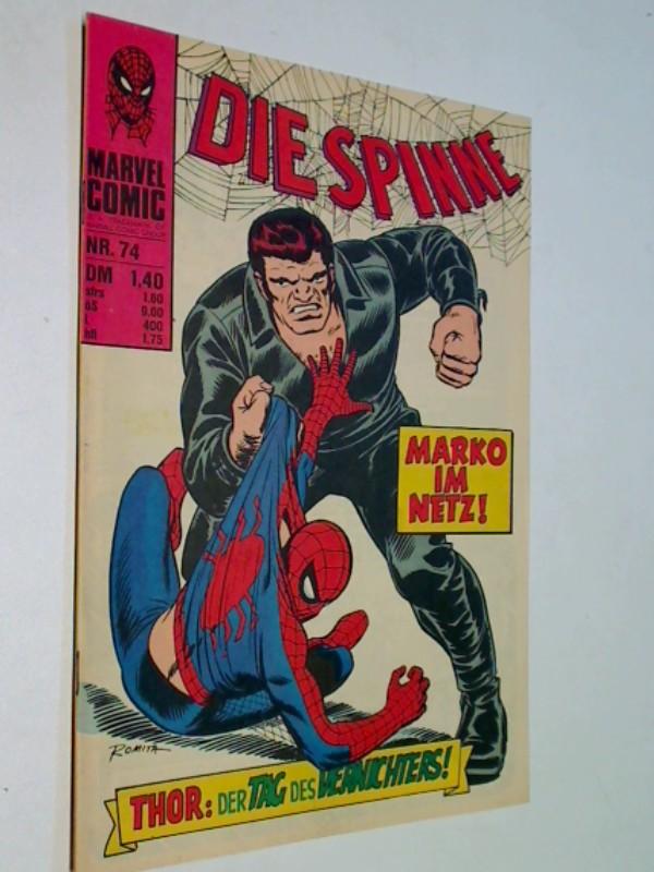 Die Spinne 74, Das Netz ist dicht !, Mit Thor, Spider-Man, Williams Marvel Comic-Heft (1976)