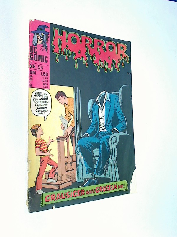 Horror 54 Hilft denn niemand ? Williams DC Comic-Heft, ERSTAUSGABE 1976