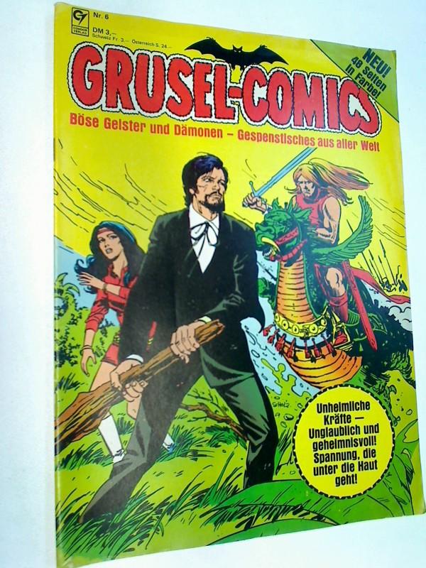 Grusel-Comics Nr. 6: Die Katze. Der Zeitsprung.  Condor Comic-Magazin, ERSTAUSGABE 1981