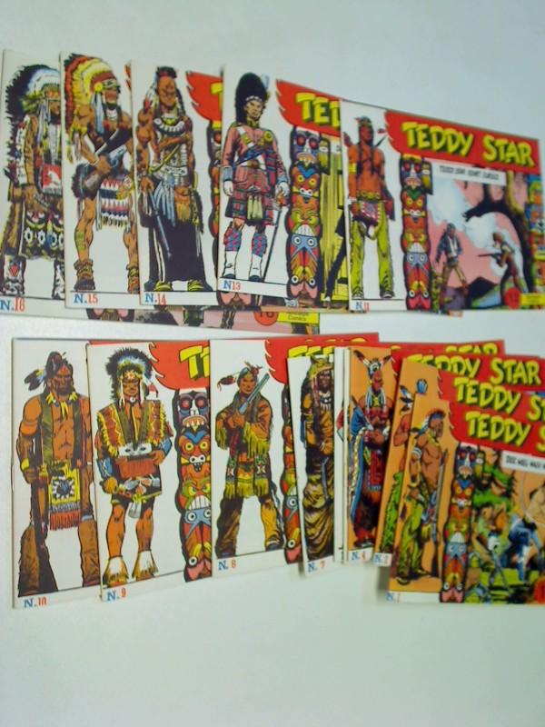 Teddy Star Bd. 1 bis 16 , = komplett, (1986-1987) Comic-Heft, Doppelpiccolo. ERSTAUSGABEN, Set Sammlung Konvolut