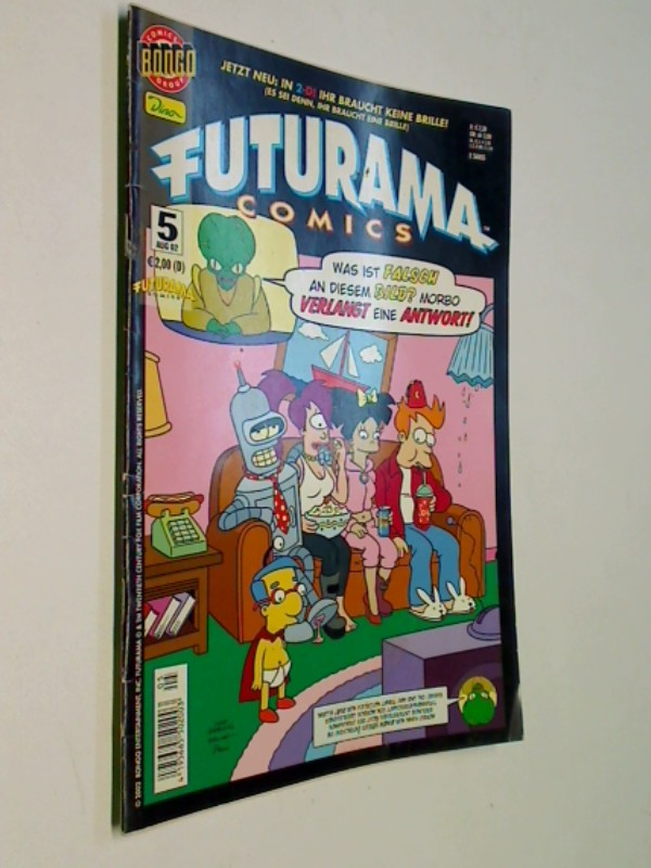 Futurama Comics 5, Dino Comics (Heft), ERSTAUSGABE 2002