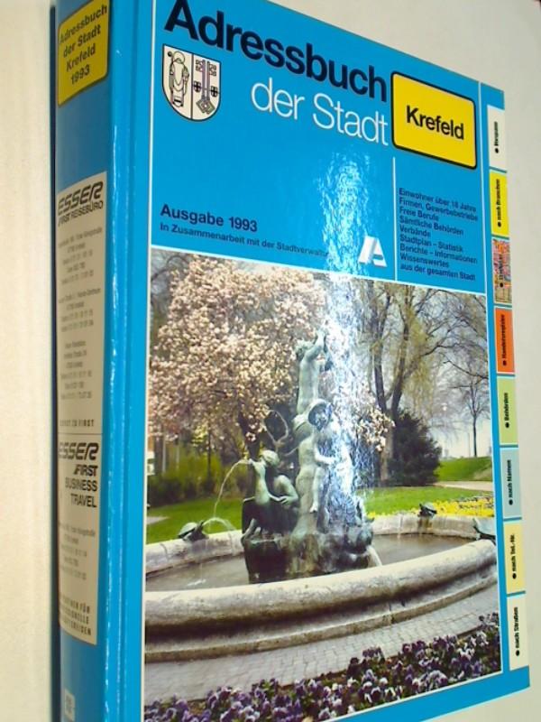 Adressbuch der Stadt Krefeld 1993. In Zusammenarbeit mit der Stadtverwaltung