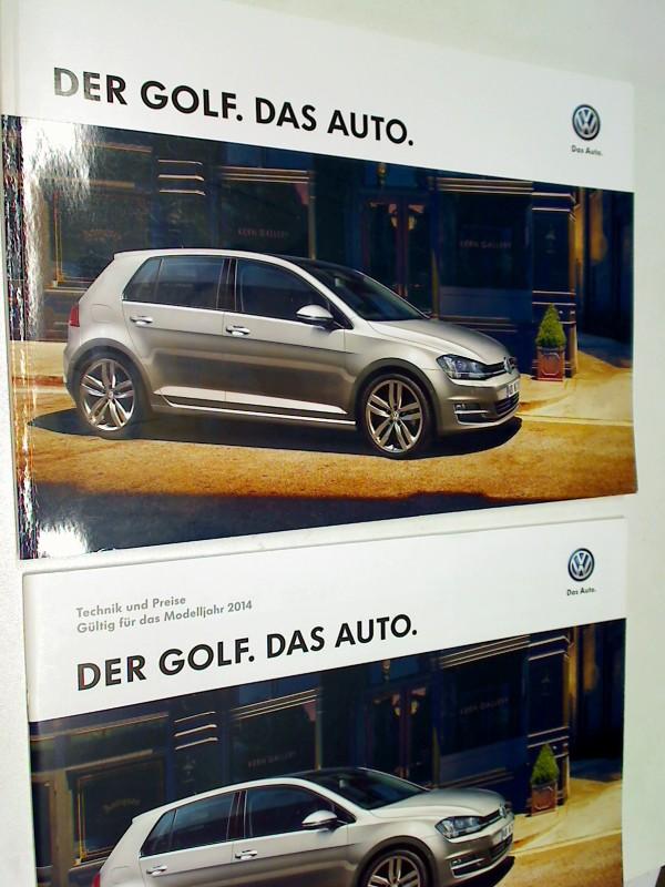 Der Golf. Das Auto. VW. + Technik und Preise Gültig für das Modelljahr 2014. 2 Bde.