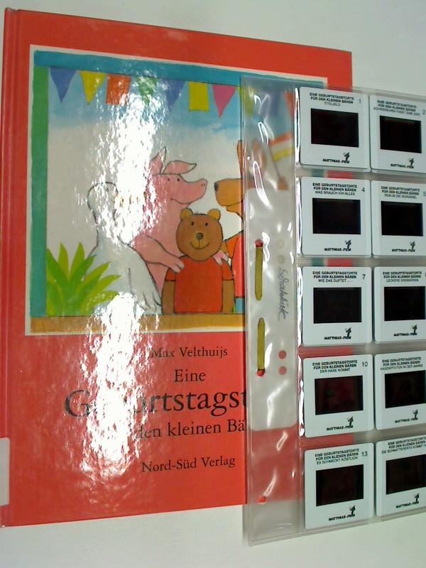 Eine Geburtstagstorte für den kleinen Bären. Dia-Geschichte und Bilderbuch über die Freude am probieren, Schenken und Geburtstag feiern