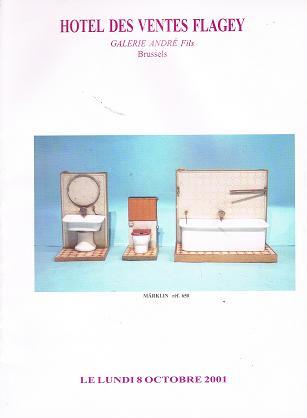 Hotel des Ventes Flagey - Galerie André Fils: Importante Vente publique de Jouets Anciens, Lundi 17 Decembre 2001.