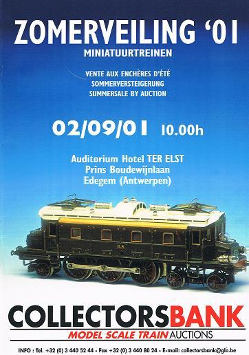 Zomerveiling '01: Miniatuurtreinen, 02/09/01.