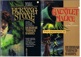 The Mages of Garrillon Book One & Book Two . The Burning Stone , The Gauntlet of Malice
