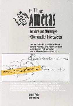 Ametas: 11/1996. Berichte und Meinungen völkerkundlich Interessierter.