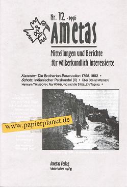 Ametas: 12/1996. Berichte und Meinungen völkerkundlich Interessierter.