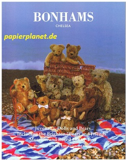 Juvenalia, Dolls and Bears Including the Brighton ''Bears and Friends'' Museum and Boxed Dinky Toys. 20 th May 1998. (Auktions-Spielzeug-Katalog)