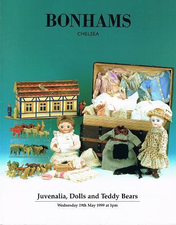 Juvenalia, Dolls and Teddy Bears. 19 th May 1999. (Auktions-Spielzeug-Katalog)