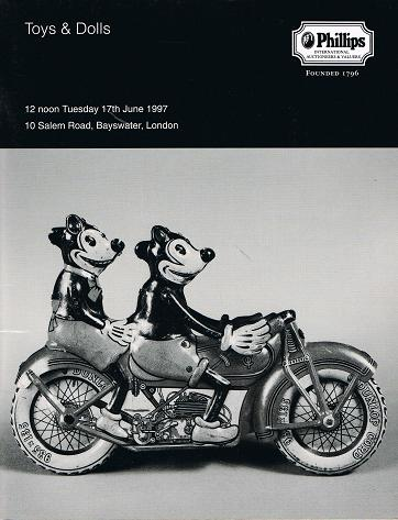 PHILLIPS: Toys & Dolls. London 17 th June 1997.