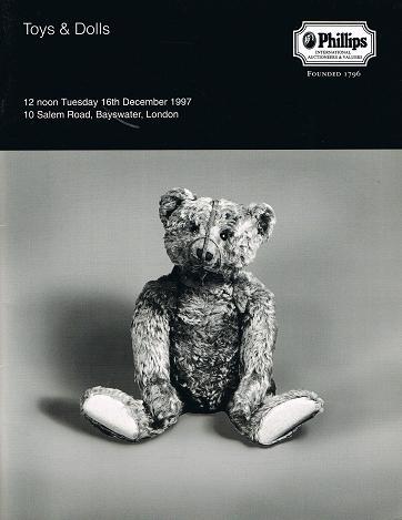 PHILLIPS: Toys & Dolls. London 16 th December 1997.