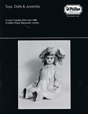 PHILLIPS: Toys, Dolls & Juvenilia. London 23 rd June 1998.