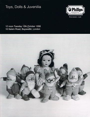 PHILLIPS: Toys, Dolls & Juvenilia. London 13 th October 1998.