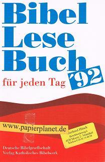 Bibellesebuch. für jeden Tag '92.