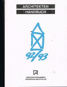 Architekten Handbuch 1992 / 93.