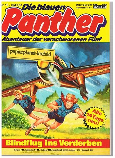 Die blauen Panther 10  Blindflug ins Verderben , 1980, Bastei Comic-Magazin