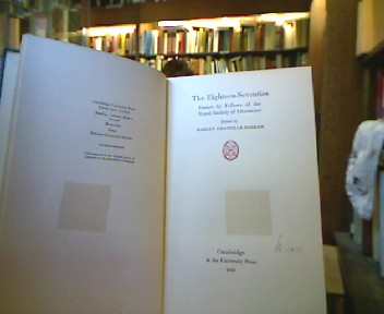 The Eigteenth-Seventies. Essays by Fellows of the Royal Society of Literature.