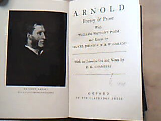 Arnold Poetry & Prose. With William Watson