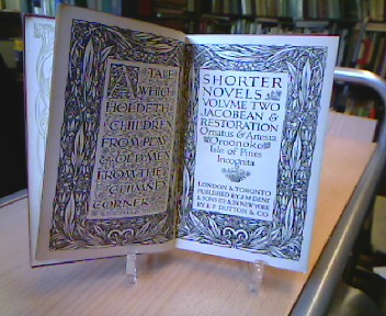 Shorter Novels: Jacobean and Restauration with an introduction and Notes by Philip Henderson. Bd. 2 (= Everyman