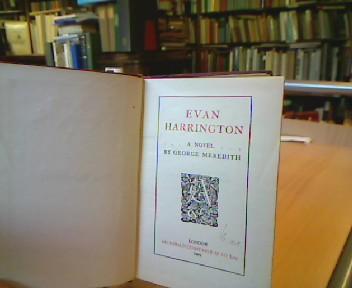 Evan Harrington. A Novel.