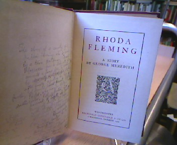 Rhoda Fleming. A Story by George Meredith.
