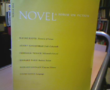Novel. A Forum on Fiction. Published in the Fall, Winter and Spring of each Year. Vol. 1 number 2, Winter 1968.