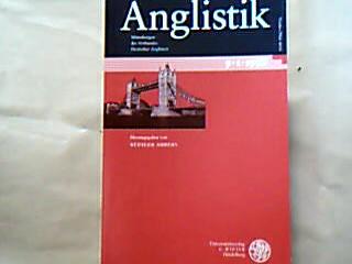 Ahrens, Rüdiger (Hrsg.). Anglisitk. Mitteilungen des Verbandes deutscher Anglisten. 9. Jahgang, Heft 1, März 1998.