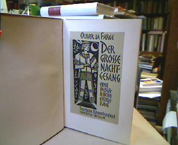 """Der große Nachtgesang. Eine indianische Erzählung. [""""Laughing Boy"""", dt]. Übertragen von Lulu von Strauß und Torney. (= Deutsche Hausbücherei )."""