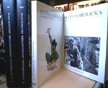 Alfred Hrdlicka: Das Gesamtwerk  Bände 1, 3/I 3/II und 4 ( alles Erschienen) Band 1 Bildhauerei, 3/I und 3/II Druckgraphik und Band IV Schriften. ( Band 2 Malerei istz nicht erschienen) 4 Bände