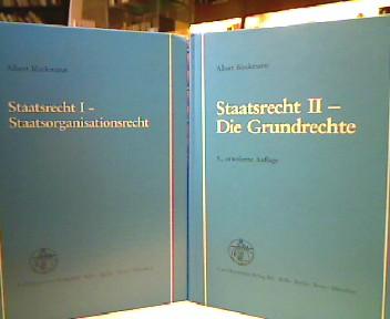 Staatsrecht I u. II. 1.,  Staatsorganisationsrecht. 2., Die Grundrechte. 1. Aufl. u. 3., erweiterte Aufl.