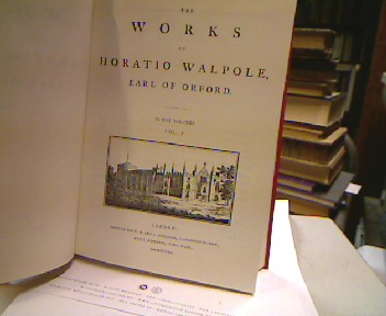 The works of Horatio Walpole, Earl of Orford. In 11 Volumes (Anglistica & Americana Nr. 157) 11 Bände ( incl.eines Tafelbandes) , Nachdruck / Reprint der Ausgabe London 1798