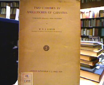 Two comedies by Apollodorus of Carystus (Mnemosyne Bibliotheca Classica Batava). Terence