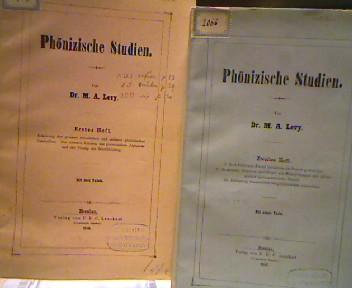 Phönizische Studien. 2 Hefte.