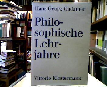 Philosophische Lehrjahre. Eine Rückschau.