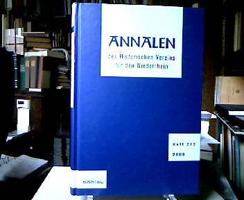 Annalen des Historischen Vereins für den Niederrhein insbesondere das alte Erzbistum Köln Heft 212 (2009).