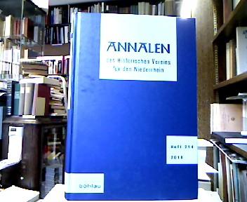 Annalen des Historischen Vereins für den Niederrhein insbesondere das alte Erzbistum Köln, Heft 214 (2011).