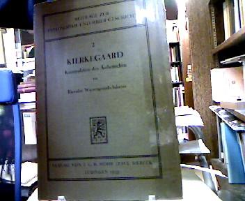 Kierkegaard. Konstruktion des Ästhetischen. (= Beiträge zur Philosophie und Ihrer Geschichte Band 2).