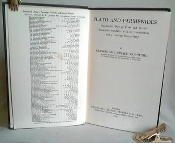 Plato and Parmenides. Parmenides