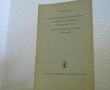 """Untersuchungen über den grundsätzlichen Anspruch der Wahrnehmung, Wahrnehmung zu sein. (Beiträge zur Deskription und """"Ontologie"""" der Erkenntnis)."""