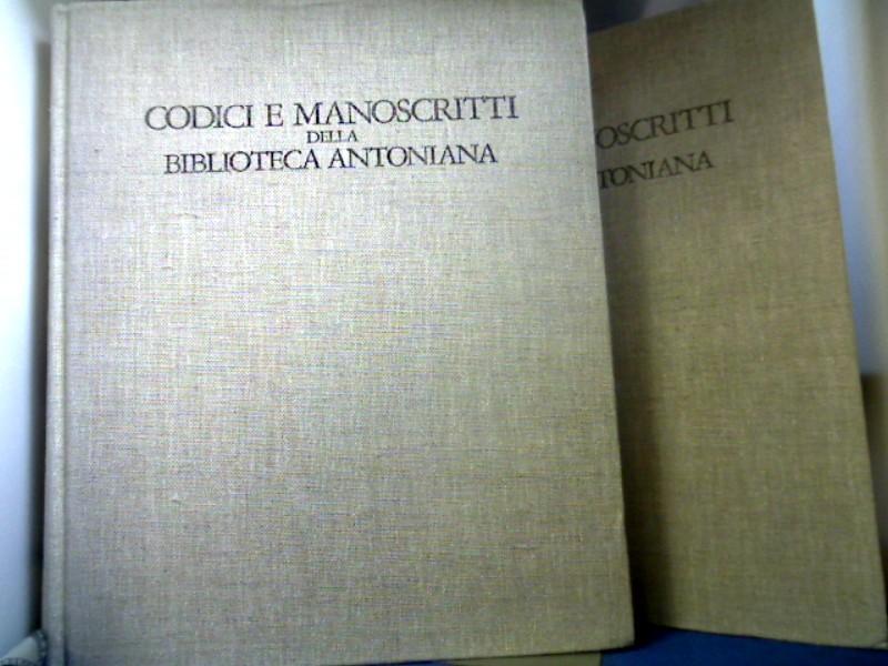 Codici E Manoscritti Della Bibliotheca Antoniana. Col Catalogo delle Miniature. 2 Bände. Fonti e Studi per la Storia del Santo a Padova. Fonti 1 + 2. 1. Auflage.