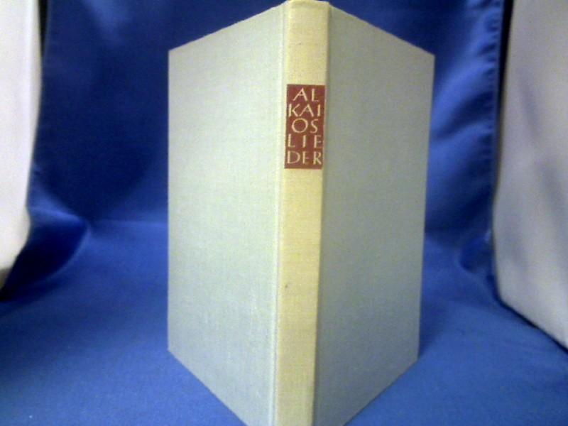 Lieder. Griechisch-deutsch. Hrsg. von Max Treu. Tusculum-Bücherei. 1. Auflage.