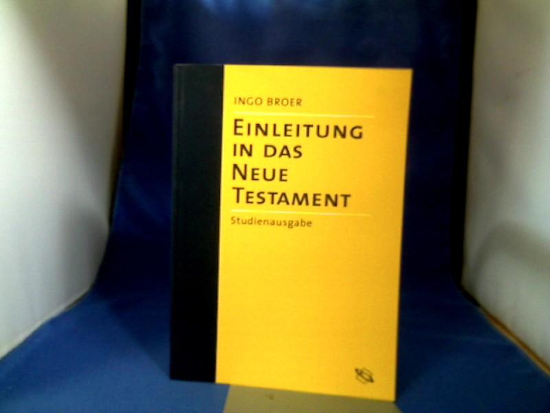 Broer, Ingo. Einleitung in das Neue Testament, Band 1: Die synoptischen Evangien, die Apostelgeschichte und die johanneische Literatur. Lizenzausgabe.